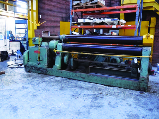 S/n 3684.  Max material width 3,050mm,  max material thickness 12mm,  top roll dia 275mm,  botto