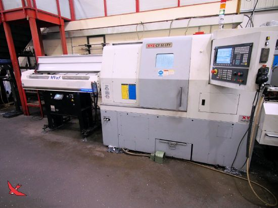 Swarf Conveyor, C axis & Milling, Tool setter, Coolant, Y-axis, Tailstock, Interlocked guards, Low V