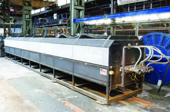 500-1,100degC temperature range, 6 tubes, West P6100 control / P6700 alarm, 140kW, 400kg/hr max thro