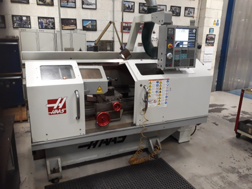 Haas TL-2, 2008: s/n 3081028, Swing over apron 406mm, swing over cross slide 282mm, Distance between