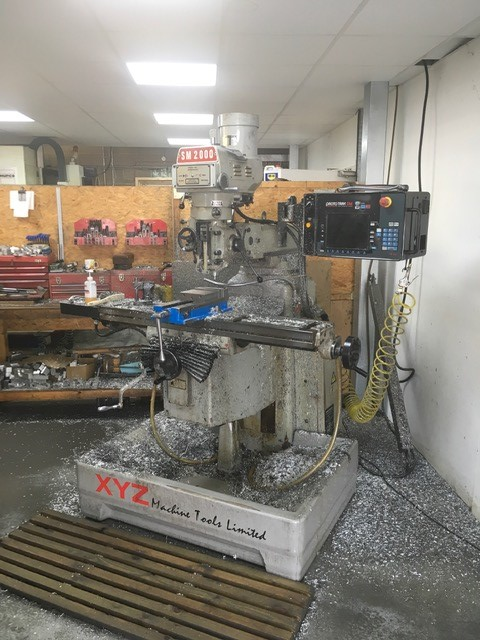 XYZ SM2000, 2004, s/nTBA, Prototrak SM2 2 Axis control, table 1270 x 254mm, trav 762 x 406mm, quills