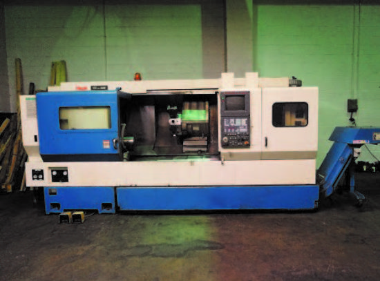 11in 3-Jaw Chuck,  Tooleye,  Tailstock,  Swarf Conveyor,  12-Station Turret,  C Axis  (1995)