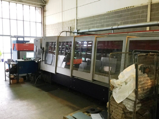 Y = 3048mm X = 1524mm Z = 100mm Bylaser 4400  Power on hours 29000 Cutting hours 14000  New turb
