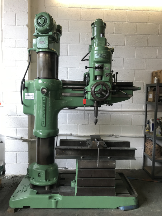 Radial Arm Drill Archdale Full Working Order Spindle Speeds 80-2000 rpm Fine Feed Powered Raise
