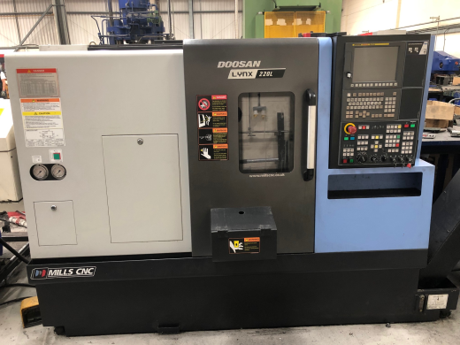 Doosan Lynx 220LC, 2016, s/n ML0022-006501, Fanuc i Series Control, 203mm Power Chuck, Toolsetter, M