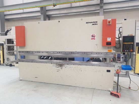Euro III CNC  , 3 axis CNC, tooling, light guards, foot control, downstroking, 100 tons x 4100mm cap