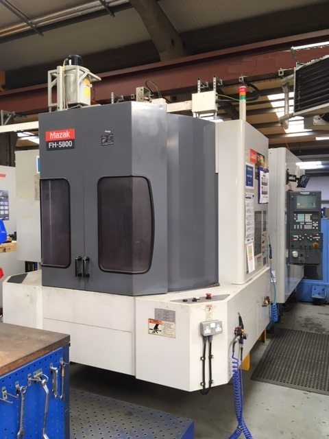 Mazak FH5800, 2001, s/n 155849,  1 degree increment B-Axis, 120 station ATC, renishaw measuring prob