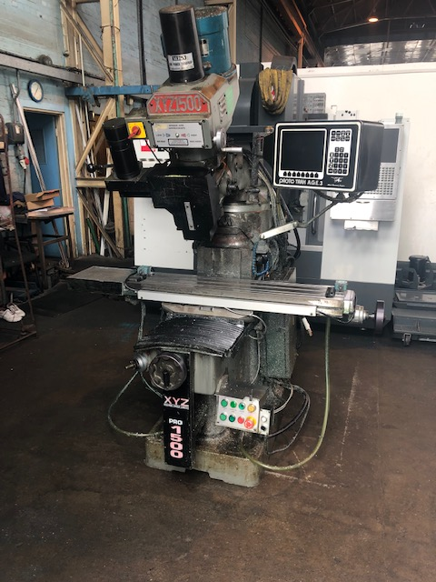 XYZ PRO 1500, 1999, s/n tbc, AGE 3 3 Axis CNC Control, table 1066 x 228mm, trav 660 x 330 x 406mm, 3