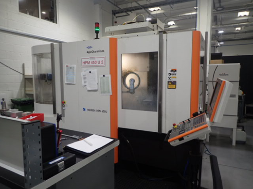 Mikron HPM450U 5-axis machining Centre, 2012, S/n 107.37.00.441, 7-pallet system, Heidenhain iTNC 53