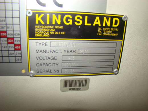Kingsland Haco 100 t x 3100 mm cnc pressbrake 