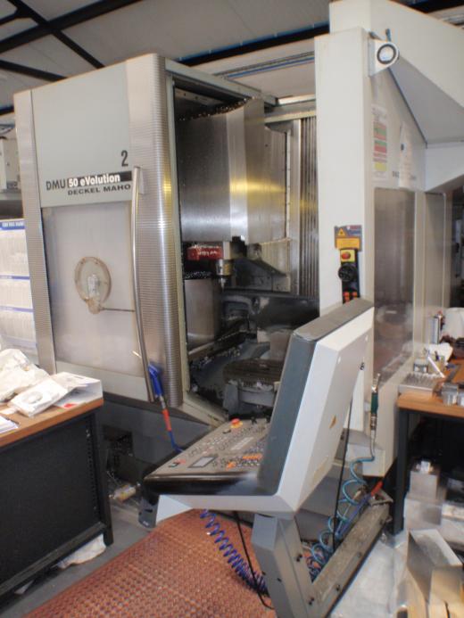 DMG DMU50 EVO,  2002, Ser No 11045530414, Heidenhain TNC530, Full 5 Axis, Laser Probe Toolsetting, S