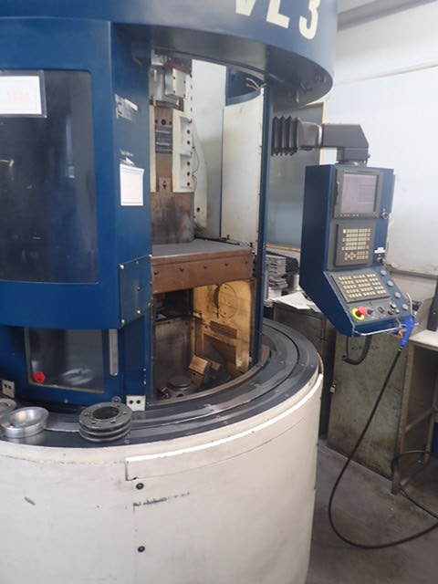 Emag VL3 Vertical Turning Lathe, Ser No 00VS2550 09, 2000, Control Fanuc 21i-t, Max diameter: 210mm,