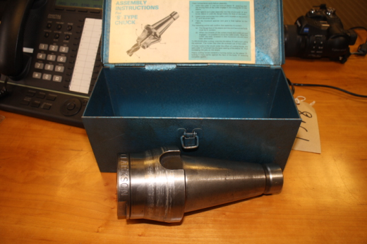 Clarkson Autolock Chuck, ISO 50. with Collets