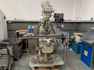 XYZ E-Mill, 2006, s/n 0603032,2 axis dro, R8 taper, table size 1270 x 254mm, trav 735 x 406 x 125mm