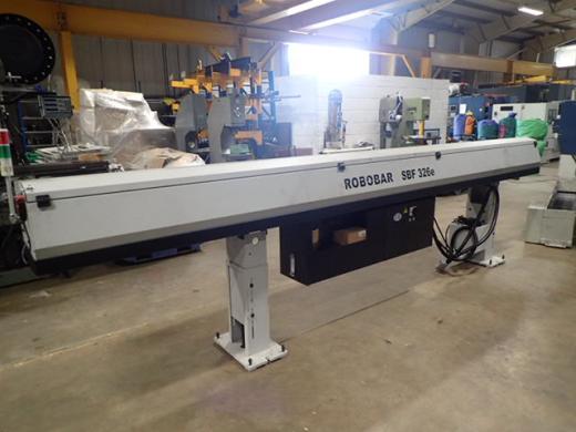 Tornos Robobar SBF326e mag bar feed, 2014, s/n 3538-14/10, 4 metre bars, off Tornos CT20
