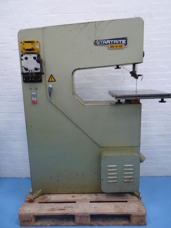 24″ throat 10 speed metal cutting toolroom bandsaw with blade welder and grinder