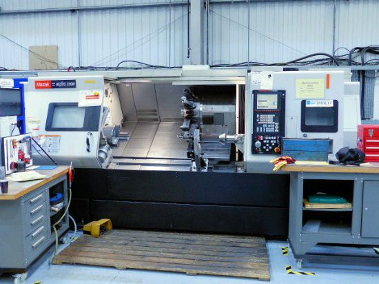 Maximum machining diameter 420 mm, maximum machining length 1538 mm, maximum swing 750 mm, bar capac