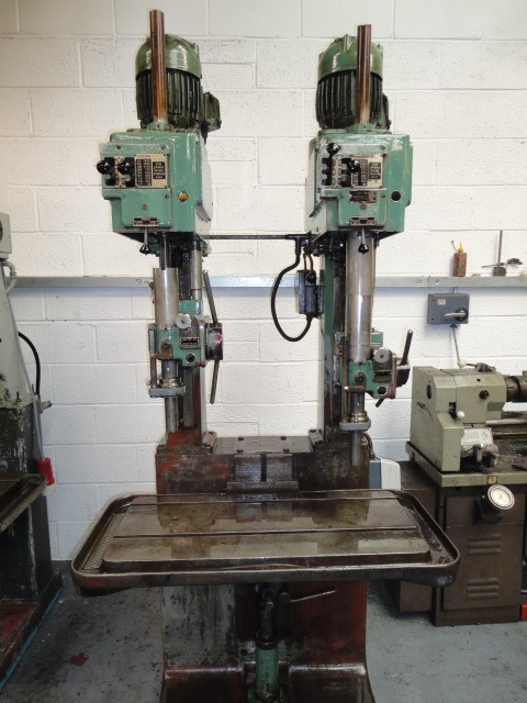Pollard 15CY Twin Spindle In Line Drilling Machine