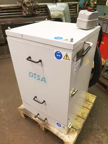 DISA AIRMASTER DUST EXTRACTOR Model Sherpa M : Rating 0.75 KW : Manual Shaker : 3 Phase Electrics.