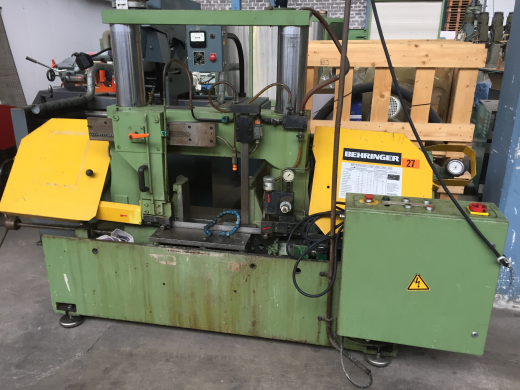 Stock No.: 3462 BAND SAW Manuf.: Behringer , Type: HBP 340 Serial No.: 1186227, Build: 1986  Sp