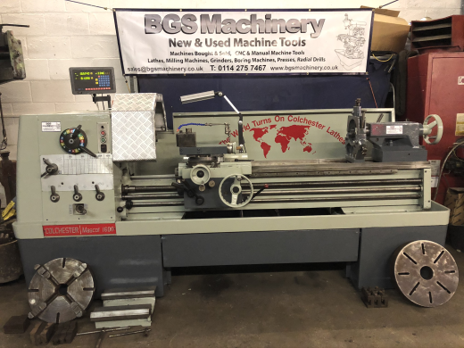 """Colchester Mascot 1600 Lathe in Stunning Condition 60"""" Between Centres Spindle Speeds 20-1600rpm"""