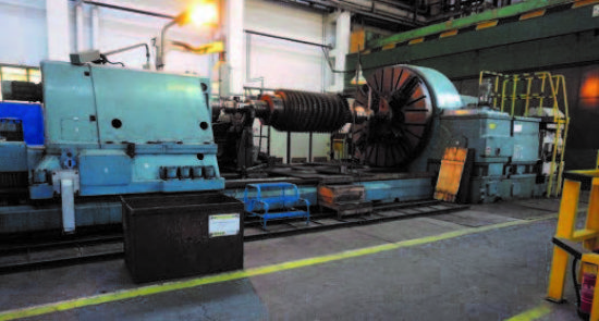 11m Between Centres,  4 Way Bed,  Internal Grinding Head,  Milling/Drilling Head,  2500mm Dia Ch