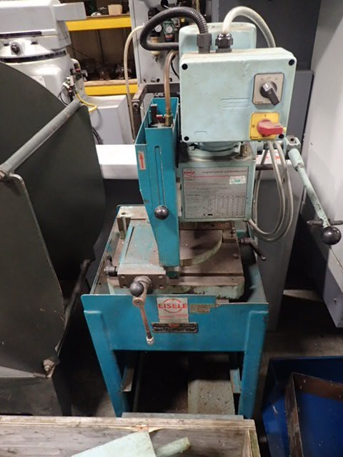 Eisele VMS300 Vert Action Cut Off Saw, 1997, s/n 6316, Blade 315mm, straight cut 120 x 75mm, 45° 80