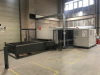 Fiber Laser Cutting Machine.  Fiber 3000 Laser Source, Pull Out Sheet Storage Rack.  With Abus Crane and Vacuum Sheet Lifting Attachment. Manufactured 2017