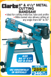 Clarke 6in & 4 1/2in Metal Cutting Bandsaws