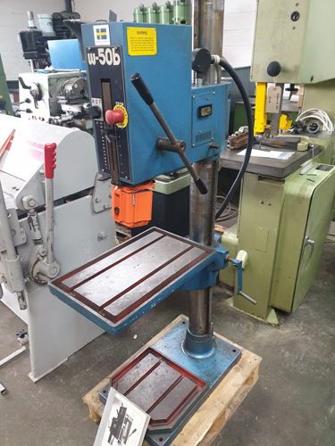 WIDMEK W-50B PILLAR DRILL 3 MT Spindle : Geared Head - 8 Speeds 85 - 1800 rpm : Hand Feeds : Rise &