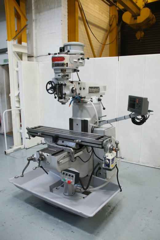 """Belt Change Head Spindle Speeds 50-3750 rpm Spindle Taper R8 Table Size 42"""" x 9"""" Power Feed To T"""