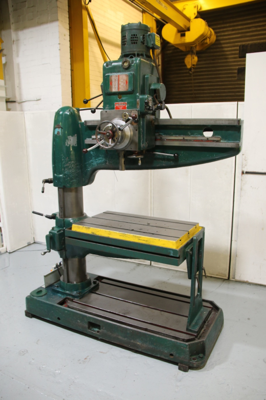 """Speeds 90 - 1120 Spindle Taper 3 M/T Power Down Feed To Quill Table Size 36 x 21"""" Rise & Fall Ta"""