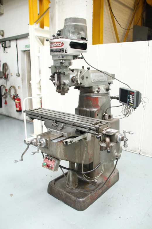 """Belt Change Head  Spindle Speeds 67 - 4600rpm Spindle Taper R8 Table Size 42"""" x 9"""" Power Feed To"""