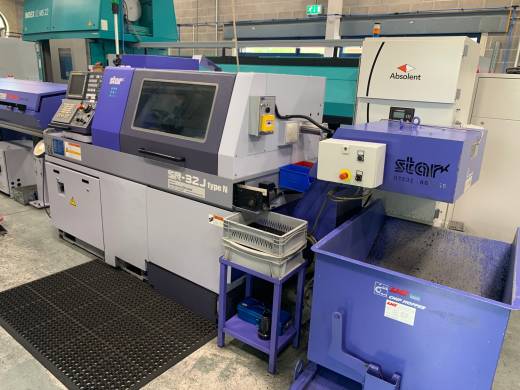 CNC Sliding Headstock Lathe  Fanuc 32i-B Number of axes7 Main spindle (headstock)Z1 / C1 axis
