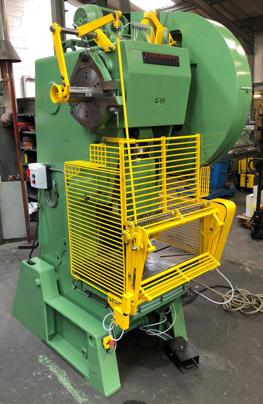 Fully reconditioned HME GP55 - 55 ton open fronted adjustable stroke power press