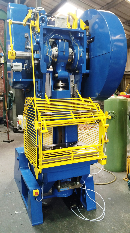 Fully reconditioned HME model GP55 - 55 ton open fronted adjustable stroke power press
