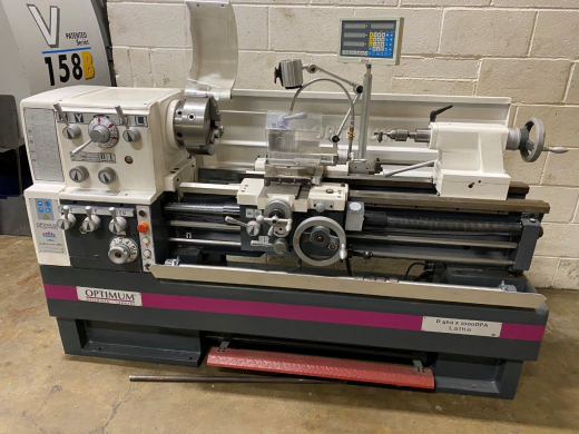 Excel (Optimum) D460 x 1000mm Gap Bed Centre Lathe, Unused, 2014, DRO, Qctp & Holders, 3 & 4 Jaw Chu