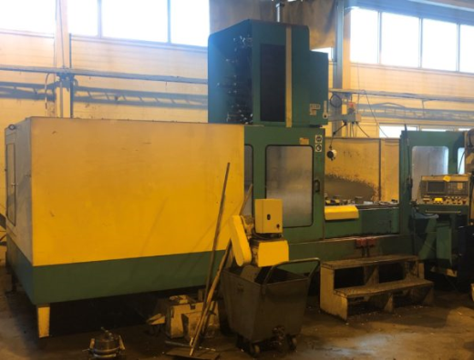 Complete with tool changer and Fanuc CNC control.