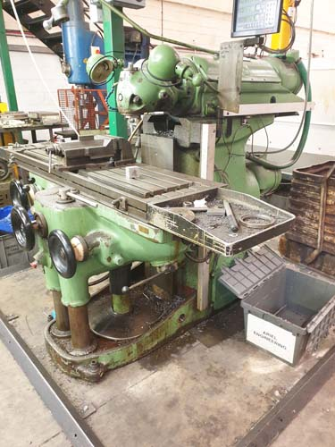 HURON KU5 RAM TYPE UNIVERSAL MILL 40 ISO Spindle : 27 Speeds 30 - 2066 rpm : Table 1635 x 460mm : Tr