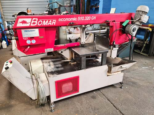 BOMAR ECONOMIC 510.320. GH HORIZONTAL BANDSAW Mitre Head 0 - 60 Degrees : Variable Speed 20 -90 m/mi