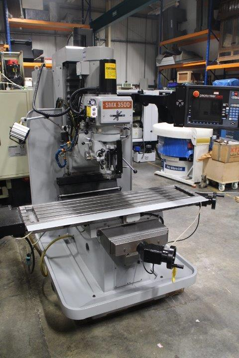 XYZ SMX3500 Bed Mill, 2009,  s/n 11232, Prototrak SMX CNC control,  table 1372mm x 355mm, Trav 762 x