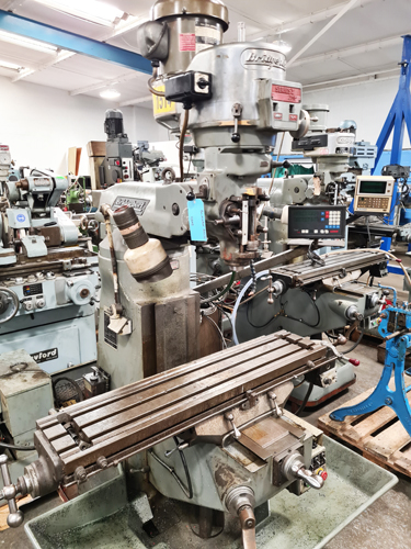 BRIDGEPORT SERIES 1 BR2J2 TURRET MILL R8 Spindle : Variable Speeds 50 - 3750 rpm : Table 48