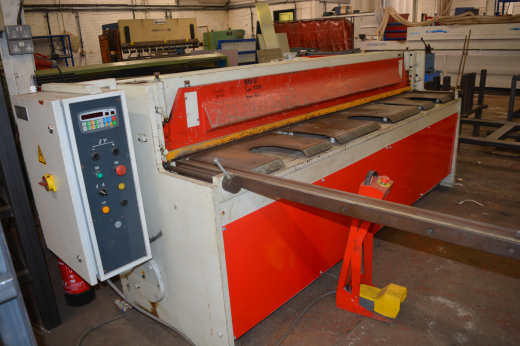 BAYKAL TYPE RGS 2500mm x 3mm MECHANICAL GUILLOTINE COMPLETE WITH MAPER AUTOMATION PROGRAMMABLE BACKS
