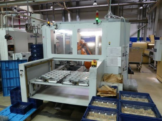 WMS-Engineering GmbH model W10 deburring system (to include all product specific work piece holders