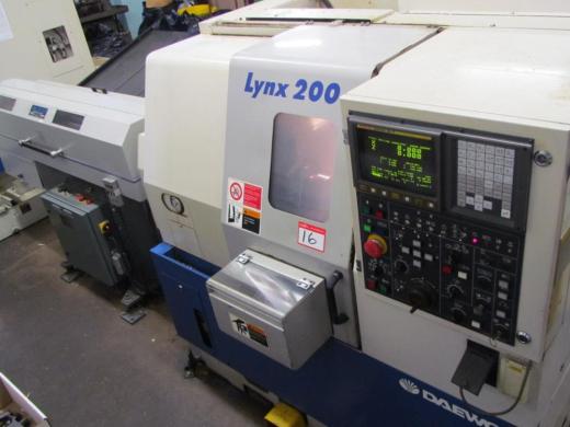 DOOSAN LYNX 200B – Two Axis Chucker 200mm 3 Jaw Hydraulic Chuck Year of manufacture 1998  Max. c