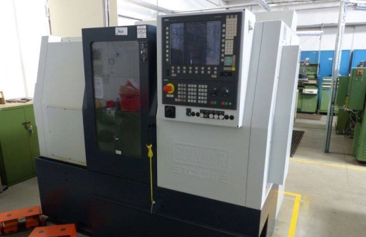Spinner TC400 52 MC Control Siemens Sinumerik 840 Year 2012  Chuck diameter210 mm Turning leng